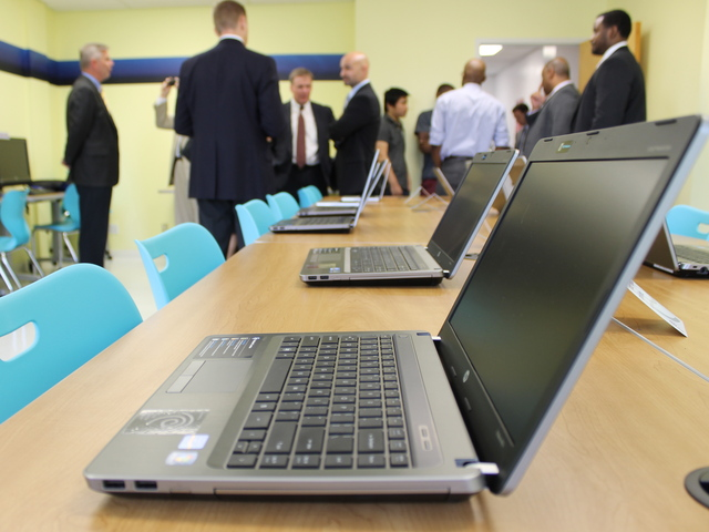A new computer learning lab at Good Shepherd Services will help young people register for college classes online and build resumes.