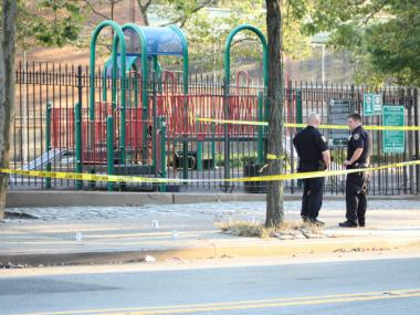 Police charged a 15-year-old boy with shooting four teenagers on Fish Playground in Brownsville Monday, Aug. 13, 2012, the NYPD said.