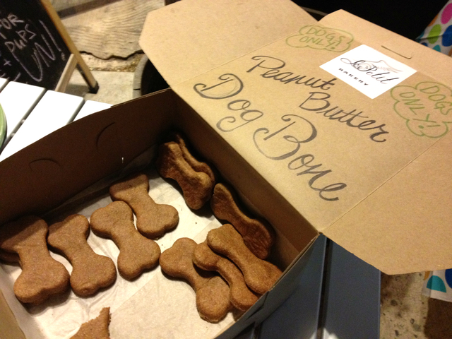 August 14, 2012 -  Who's Your Doggy held their first Happy Hour, for dogs and food was donated from local bakeries.