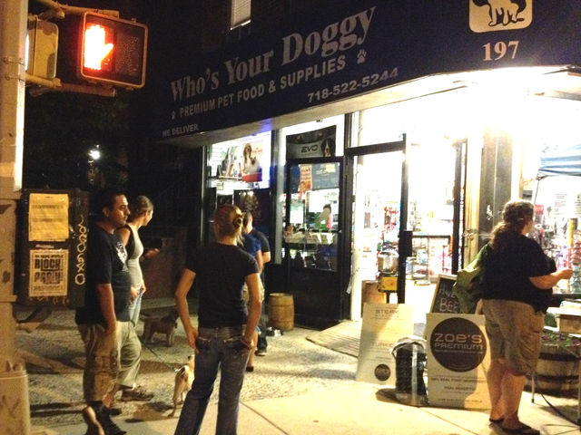 August 14, 2012 - Who's Your Doggy held their first Happy Hour, for dogs.