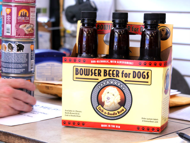 August 14, 2012 - Doggy beer was served at Who's Your Doggy's first Happy Hour.