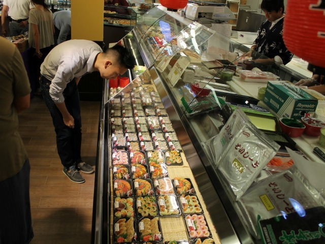The sushi counter at the new Key Food, called 55 Fulton Market, which opened on Fulton Street Aug. 15, 2012.