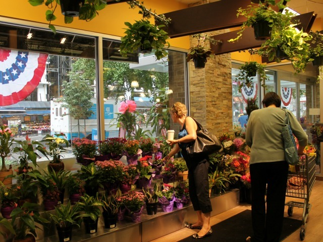 The flowers department at 55 Fulton Market, the new Key Food that opened Aug. 15, 2012.