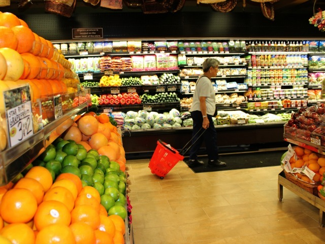 The lower level of 55 Fulton Market offers traditional grocery items.