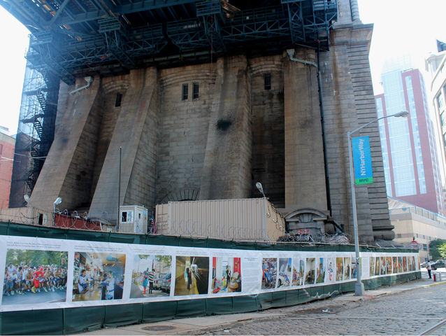 August 16, 2012 - (super)heroes is a public art display under the Manhattan Bridge, presented by United Photo Industries.