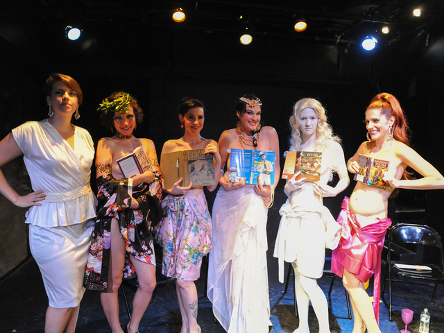 "Performers from the ""Naked Girls Reading"" series."