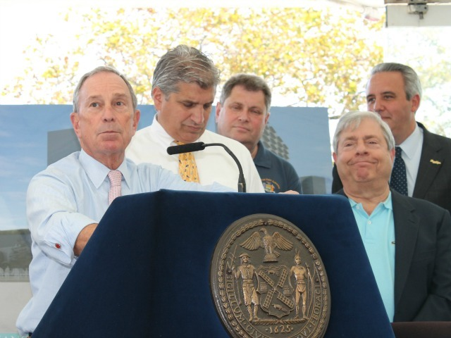 Mayor Michael Bloomberg said he doesn't have anything against sharks, but didn't seem like a big fan.