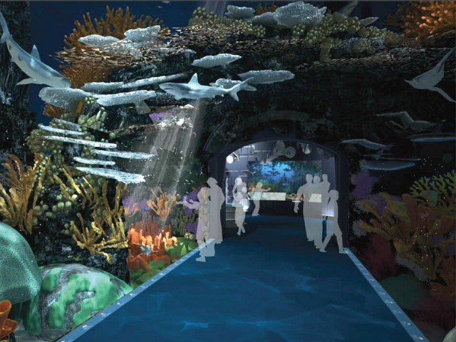 "A rendering of the New York Aquarium's planned new ""Ocean Wonders: Sharks!"" exhibit."