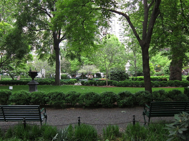Access to Manhattan's exclusive Gramercy Park is limited to those who live in the area immediately surrounding the green space and have been blessed with a key for entry.