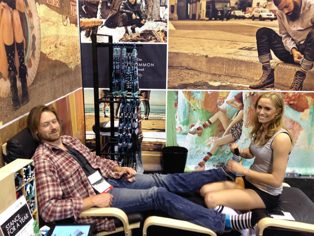 August 17, 2012 - Peter Frolich at a trade show.