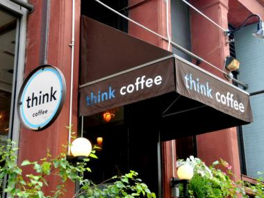 The Eighth Avenue location of Think Coffee is plagued with aggressive vagrants, the manager said Feb. 27, 2013.