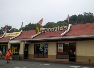 McDonald's restaurant in Claremont, where police found Hansell Arias, 22, stabbed to death on August 19, 2102.