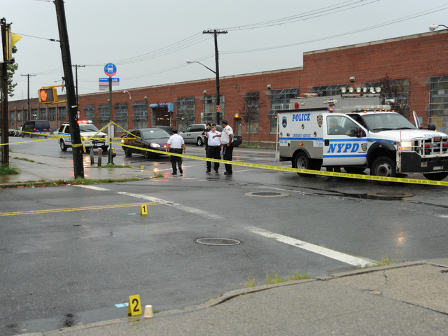 The shooting occurred here at Utica Avenue and Avenue O on Saturday, Aug. 18, 2012.