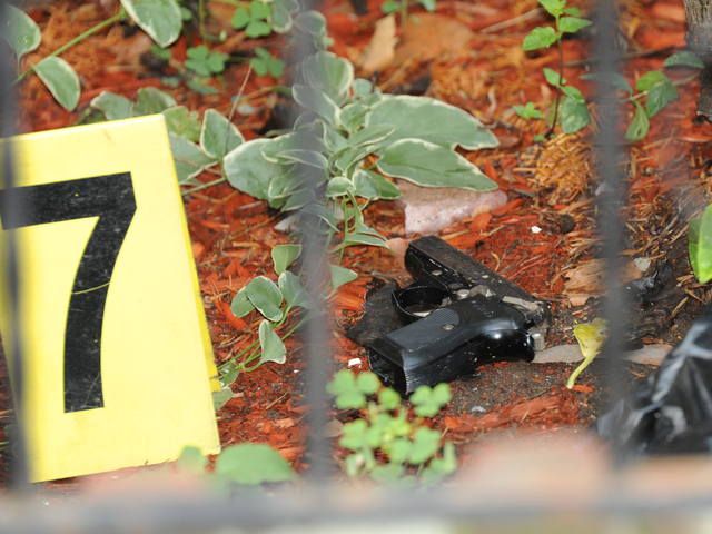 The gun allegedly used to shoot the livery cab passenger was found at 1591 East 52nd Street on Saturday, Aug. 18, 2012.