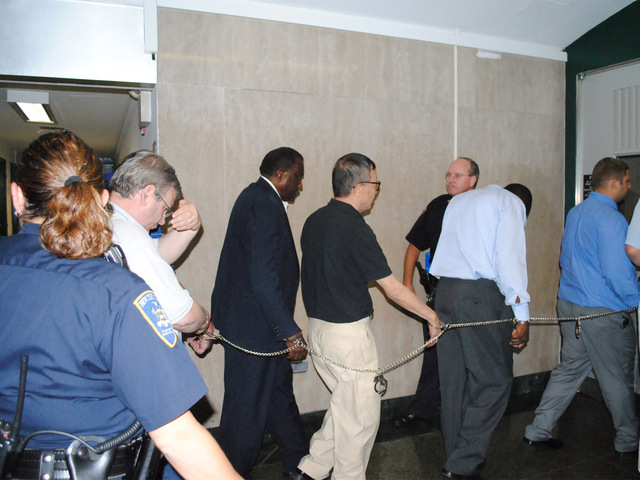 Eight subway signal maintainers were charged Monday August 20, 2012 with falsifying records about the inspections they made.