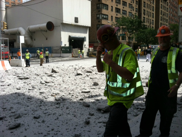 Firefighters rushed to Second Avenue and E. 72nd Street after a big blast shook the area on Tuesday, Aug. 21, 2012.