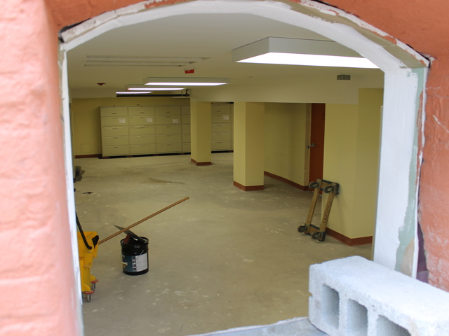 The inside of 400 McGuiness Blvd. is not yet completed, but residents said they were now living one one of the floors.