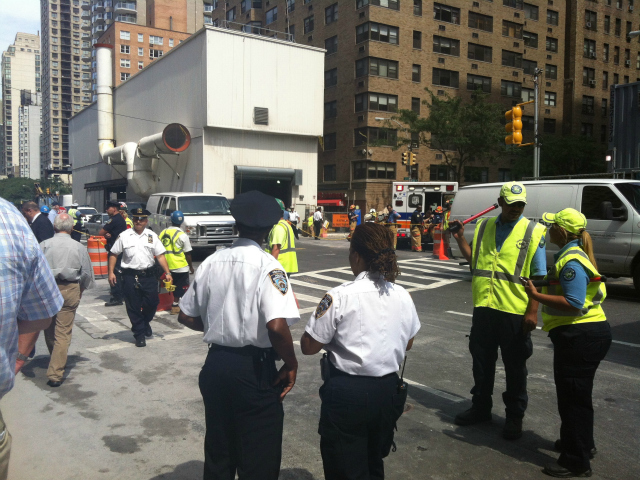 The MTA said it was suspending all work at the construction site until the cause of the blast is determined.