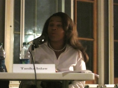 State Senate candidate Tanika Inlaw said she would focus on education and affordable housing protections if elected.