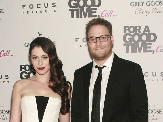 Lauren Anne Miller and Seth Rogen at