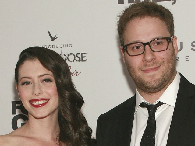 Lauren Anne Miller and Seth Rogen at the
