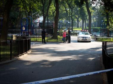 The shooting at the Bland Houses in Queens Tuesday, Aug. 21, took place in front of a playground and day care center.