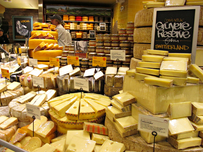 <p>A selection of cheeses at the new Whole Foods on East 57th Street between Second and Third avenues.</p>