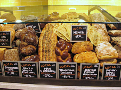<p>A selection of breads at the new Whole Foods on East 57th Street between Second and Third avenues.</p>