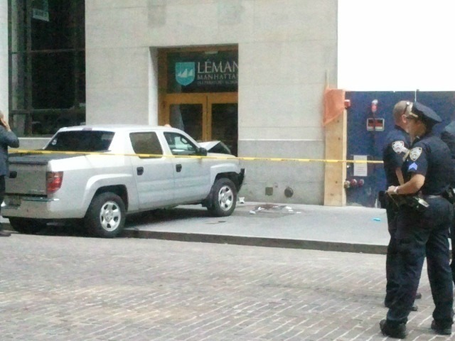A 70-year-old man was struck and killed by a security pickup truck near Leman Manhattan Preparatory School Aug. 23, 2012.