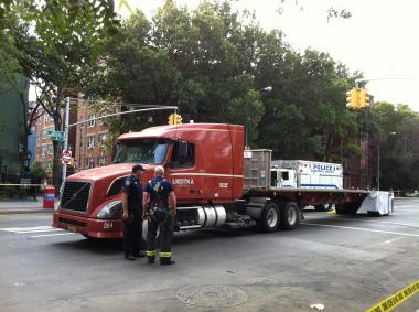 A woman was fatally struck by a truck in the West Village on August 27, 2012.