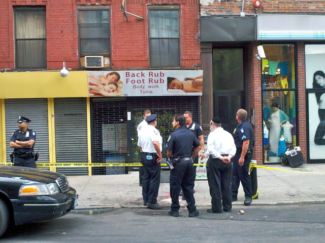 The woman was found with a slash wound to her neck inside of 191 Orchard Street on August 27, 2012.