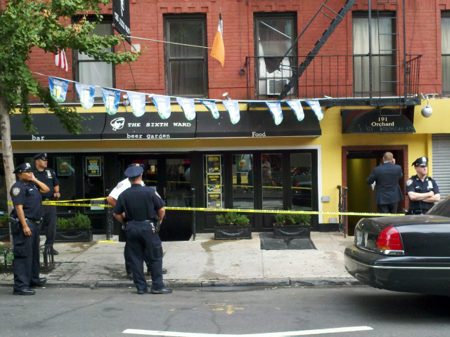 A 29-year-old woman was found bleeding from the neck in a stairwell at 191 Orchard St. on Monday, Aug. 27, 2012.