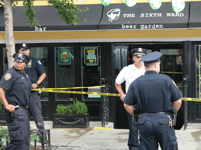 A 29-year-old woman was found slashed in the neck in a stairwell at 191 Orchard St. on Monday, Aug. 27, 2012.