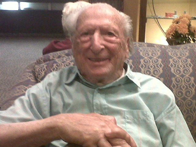 Harry Beeferman, 98, a few months before he passed away.