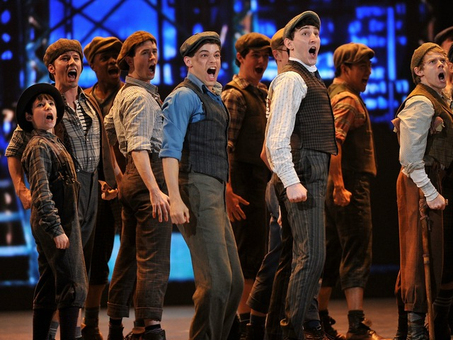 NEW YORK, NY - JUNE 10: The cast of 'Newsies' perform onstage at the 66th Annual Tony Awards at The Beacon Theatre on June 10, 2012 in New York City.