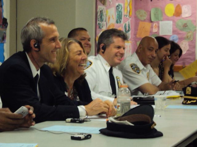 High-level school and police officials attended the follow-up meeting in July.