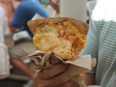 A slideshow of the food available in the US Open's food village concession area.