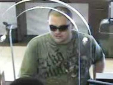 Police are looking for this man after he allegedly robbed a Chase Bank in the East Village on Aug. 25, 2012.