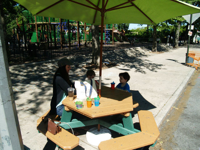 Laurie Rivera, 30, who nannies in Jackson Heights, says the permanent plaza at 78th Street will be