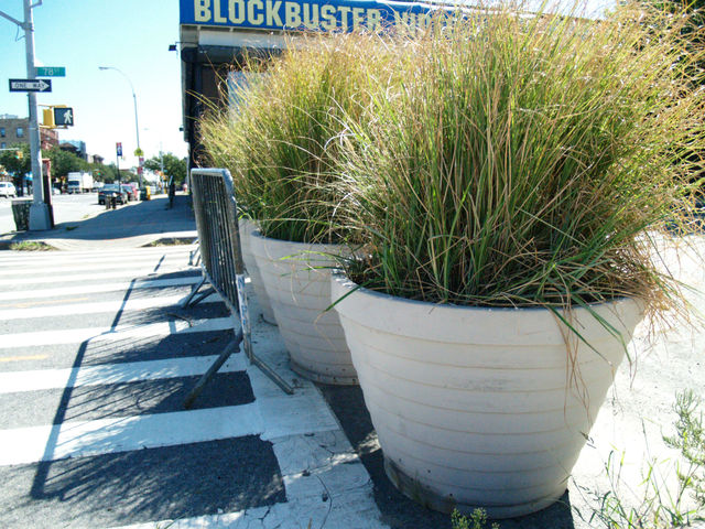 Planters block off the northern end of 78th Street.