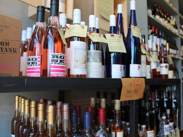 All of the alcohols produced by Brooklyn Spirits Trail breweries and distilleries are on display and on sale  at Dry Dock Wine and Spirits in Red Hook.