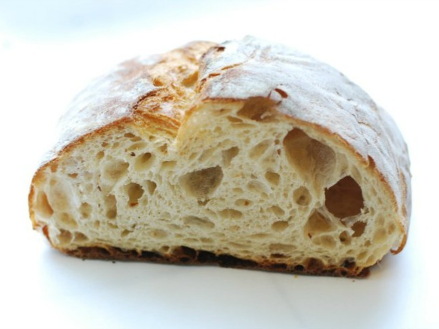 A loaf of bread from Orwasher's Bakery.