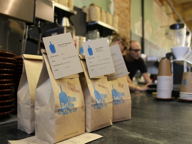 Blue Bottle Coffee is one of nine vendors at All Good Things, 102 Franklin St.