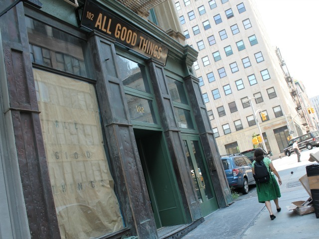 All Good Things is almost ready to open at 102 Franklin St. in TriBeca.