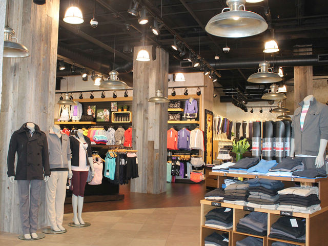 Inside the new Lululemon on Broadway and West 75th Street.