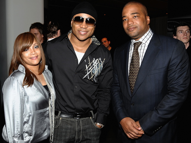 Simone Smith, LL Cool J and Violator Records/Management CEO, Chris Lighty attend the Audi's TDI Clean Diesel Technology dinner at the Audi Forum on May 12, 2009 in New York City.