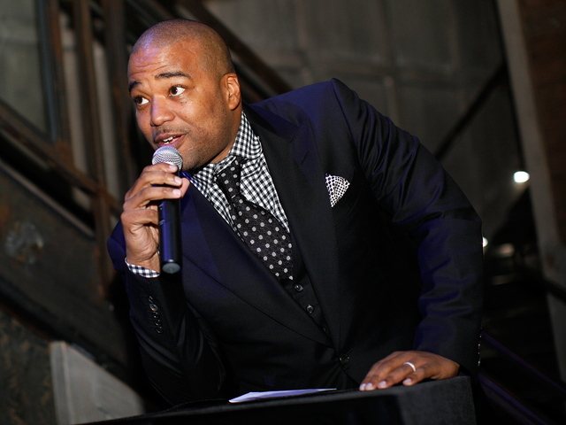 Chris Lighty speaks at the debut of the new 'Power By 50 Cent' fragrance at Avenue on June 23, 2009 in New York City.