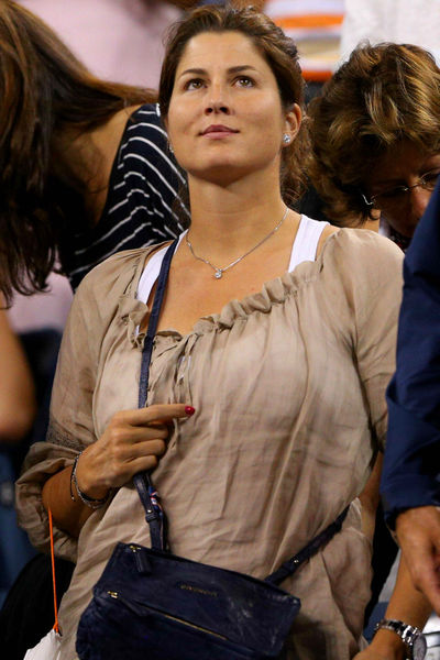 Mirka Federer at the USTA National Tennis Center in Flushing, Queens, Thursday, August 30, 2012.