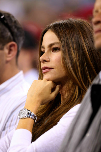 Sofia Vergara at the USTA National Tennis Center in Flushing, Queens, Thursday, August 30, 2012.
