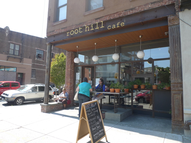 Root Hill Cafe on Fourth Avenue between President and Carroll Street.